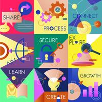 Illustration set of business strategy