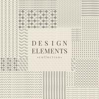 Divider linje designelement vektor samling