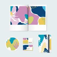 Memphis design pattern company branding vector