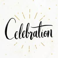 Cartão de celebrações festivas