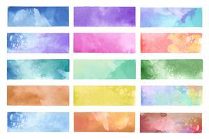 Vector de fondos de acuarela pintada colorida
