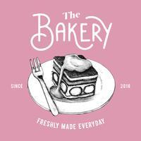 Der Bäckereilogo-Designvektor