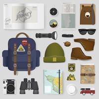 Illustration d'un ensemble d'emballage de voyage