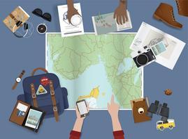 Weltkarte und Reisen