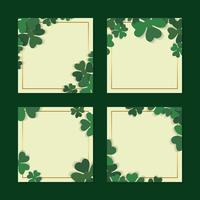Shamrock framed cards