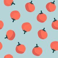 Naranjas en vector de fondo azul de patrones sin fisuras
