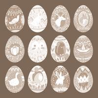 Collezione di disegni di uova di Pasqua