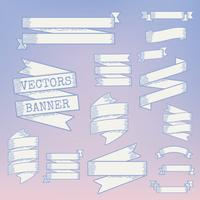 Blank banner ribbons