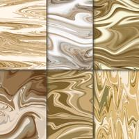 Metallic marble illustration set
