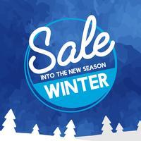 Verkauf in den neuen Saisonvektor