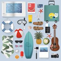 Illustration of summer packing stuff