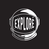Explore space comic style vector
