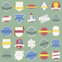 Illustratie van badges collectie