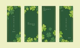 Banners do dia de Saint Patricks
