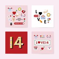 Conception de cartes de Saint Valentin