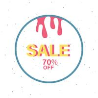 70% off SALE badge vector