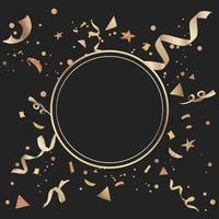 Gold confetti celebratory design vector