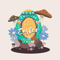 Illustration de conception d'oeuf de Pâques