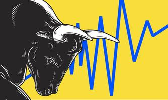 Concepto de negocio de Bull Market Artwork Icon