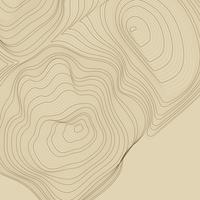 Illustration de lignes de contour abstraites marron