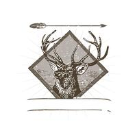 Illustration du logo du cerf sauvage