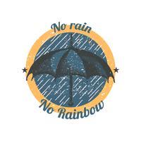 Pas de pluie pas d'illustration arc-en-ciel