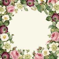 Guirnalda de hermosas flores silvestres en flor