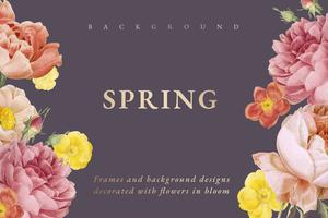 Floral design background