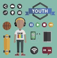 Youth lifestyle vector