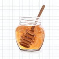 Hand getrokken honing aquarel stijl