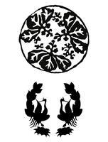 Ilustración vintage de adorno japonés