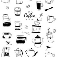 Coffee house and cafe patterned background vector