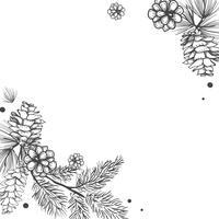 Invitación floral en blanco