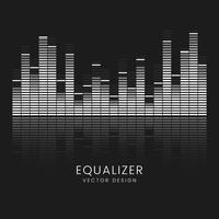 Sound wave equalizer vektor design