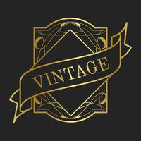 Vintage collection art nouveau badge vectors