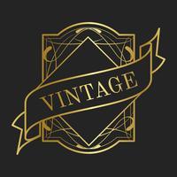 Vectores de colección vintage art nouveau insignia