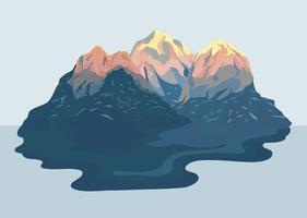 Gemalte Bergblick-Landschaftsabbildung