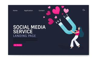 Web design for social media service