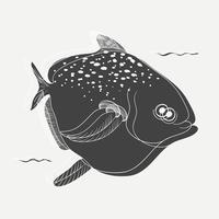 Dibujo animado de un pez