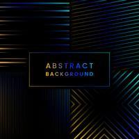 Conjunto de vectores de fondo abstracto azul y amarillo