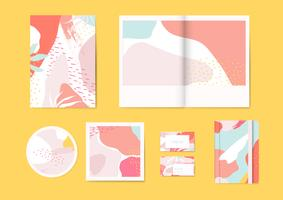 Colorful Memphis pattern vector set