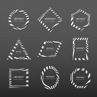 Set di vettori di modello distintivo astratto