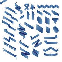 Vector de una colección de etiquetas de banner