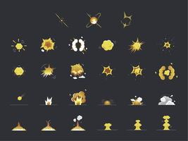 Set of explosion and bang icons