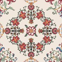 Vintage blomstrande mönster