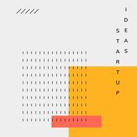 Vecteur d'affiche de démarrage de Memphis design minimal