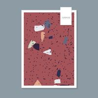 Färgglada Terrazzo mönster affisch vektor