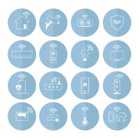 Smart home technology icon vector set