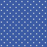 Blue and white seamless polka dot pattern vector