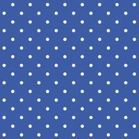 Blå och vit sömlös polka dot mönster vektor